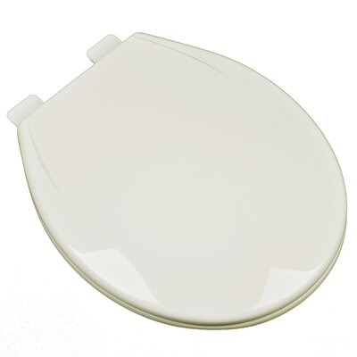 Slow Close Plastic Contemporary Round Toilet Seat Finish: Linen/Biscuit