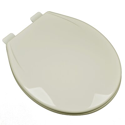 Slow Close Plastic Contemporary Round Toilet Seat Finish: Bone