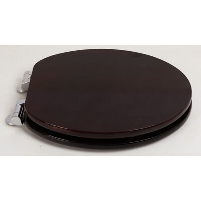 Contemporary Full Cover Solid Oak Wood Round Toilet Seat Finish: Classic Mahogany