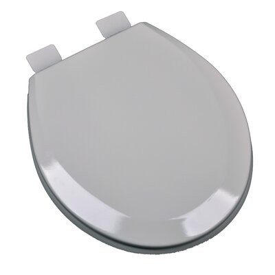 Molded Wood Round Toilet Seat Finish: Silver/Gray