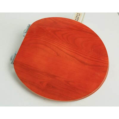 Contemporary Full Cover Solid Oak Wood Round Toilet Seat Finish: American Red Cherry