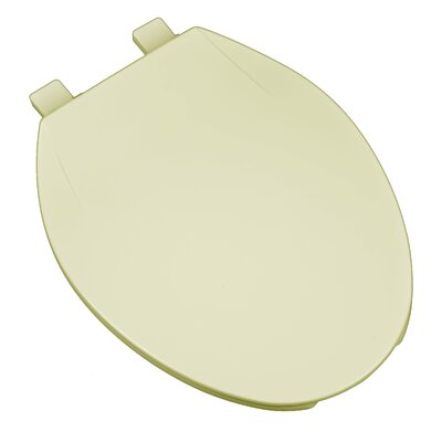 Deluxe Plastic Contemporary Round Toilet Seat Finish: Bone
