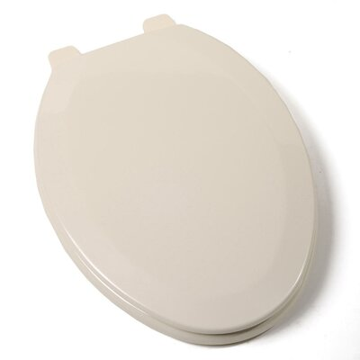 Deluxe Molded Wood Elongated Toilet Seat Finish: Bone