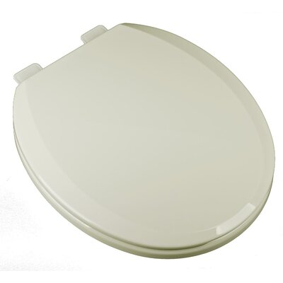 Deluxe Slow Close Plastic Round Toilet Seat Finish: Biscuit/Linen