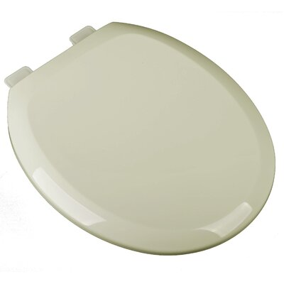 Slow Close Premium Plastic Round Toilet Seat Finish: Bone