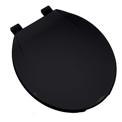 Deluxe Plastic Contemporary Round Toilet Seat Finish: Black