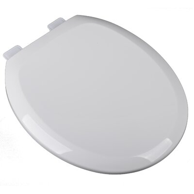 Slow Close Premium Plastic Round Toilet Seat Finish: White