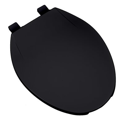 Deluxe Plastic Contemporary Round Toilet Seat Finish: Black