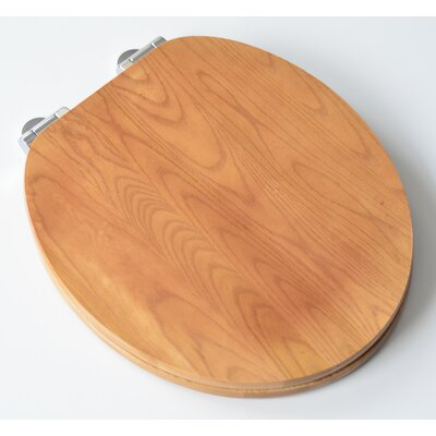 Contemporary Full Cover Solid Oak Wood Round Toilet Seat Finish: Natural Oak