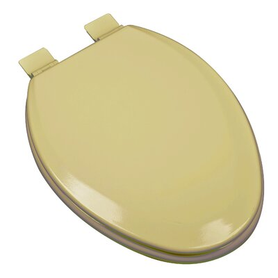 Premium Molded Wood Elongated Toilet Seat Finish: Harvest Gold