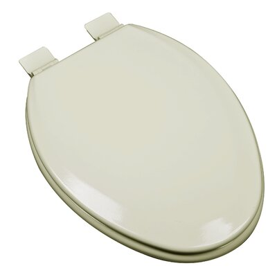 Premium Molded Wood Elongated Toilet Seat Finish: Bone