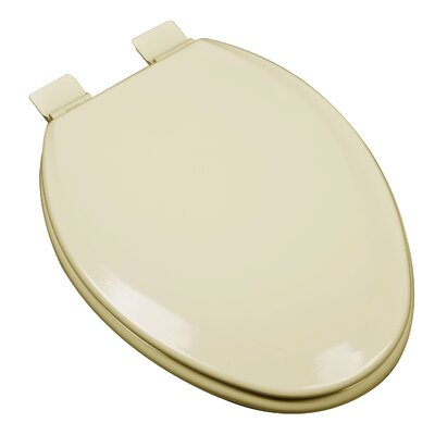 Premium Molded Wood Elongated Toilet Seat Finish: Almond