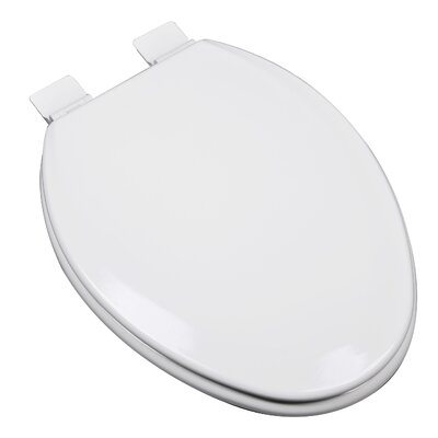 Premium Molded Wood Elongated Toilet Seat Finish: Cotton White (Bright White)