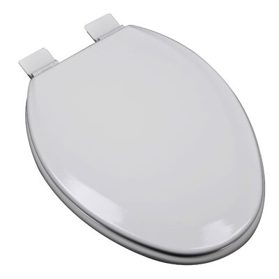 Premium Molded Wood Elongated Toilet Seat Finish: Silver/Gray