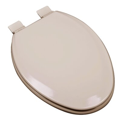 Premium Molded Wood Elongated Toilet Seat Finish: Fawn Beige