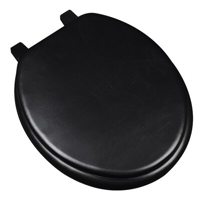 Deluxe Soft Round Toilet Seat Finish: Black