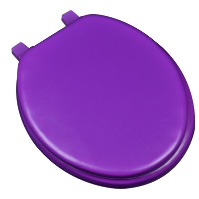 Deluxe Soft Round Toilet Seat Finish: Purple
