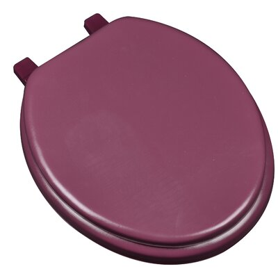 Deluxe Soft Round Toilet Seat Finish: Maroon