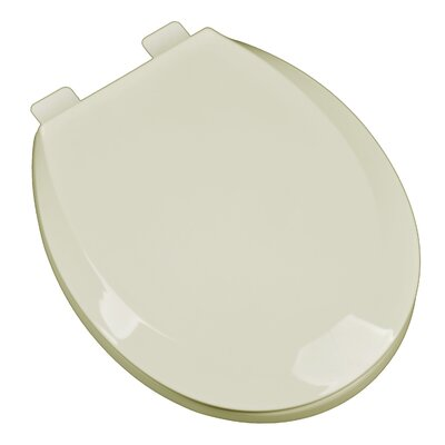 Premium Plastic Contemporary Round Toilet Seat Finish: Bone