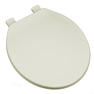 Deluxe Plastic Contemporary Round Toilet Seat Finish: Linen/Biscuit