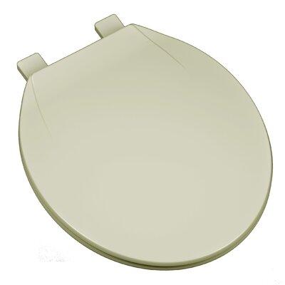 Deluxe Plastic Contemporary Round Toilet Seat Finish: Bone
