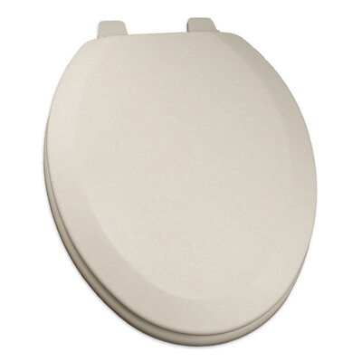 Deluxe Molded Wood Elongated Toilet Seat Finish: Biscuit/Linen