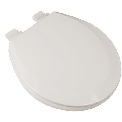 Slow Close Premium Molded Wood Round Toilet Seat Finish: Biscuit