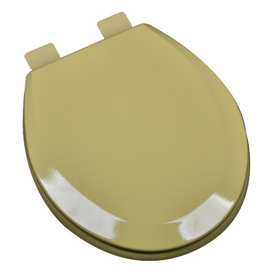 Molded Wood Round Toilet Seat Finish: Harvest Gold