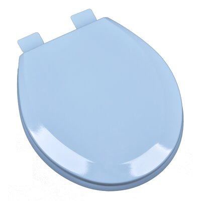 Molded Wood Round Toilet Seat Finish: Regency Blue
