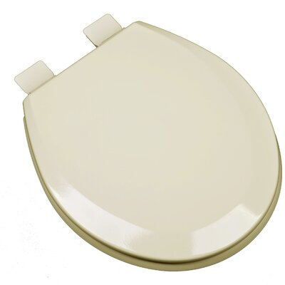 Molded Wood Round Toilet Seat Finish: Almond
