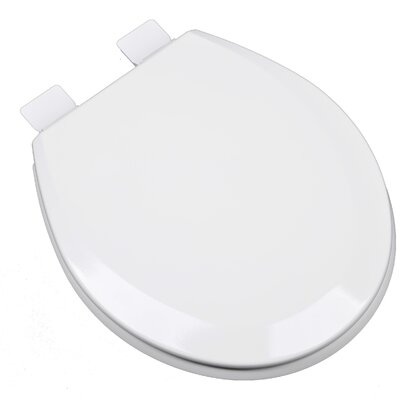 Molded Wood Round Toilet Seat Finish: Cotton White (Bright White)