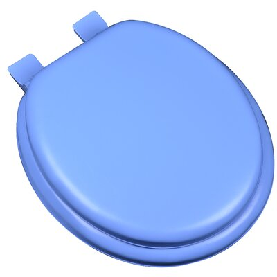 Premium Soft Round Toilet Seat Finish: Blue
