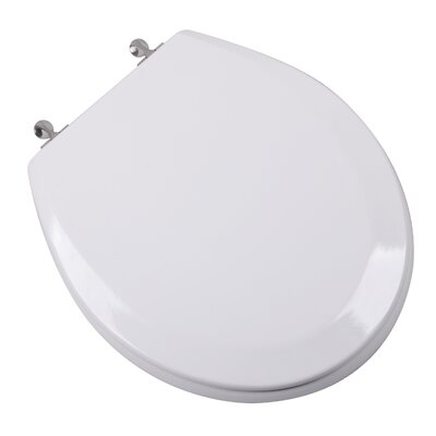 Premium Molded Wood Round Toilet Seat