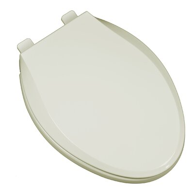 Heavy Duty Commercial Weight Slow Close Premium Plastic Elongated Toilet Seat Finish: Bone