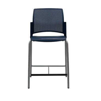 Dextra Mia 24 Bar Stool (Set of 6) Upholstery: Navy Blue
