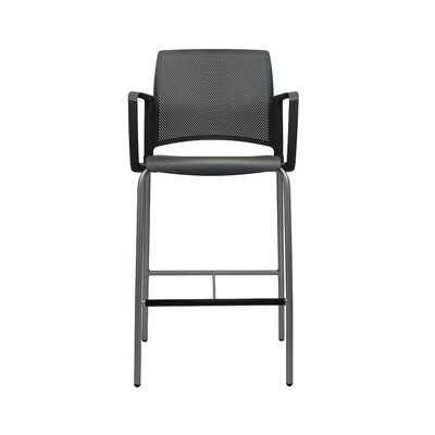 Dextra Mia 30 Bar Stool (Set of 6) Color: Black