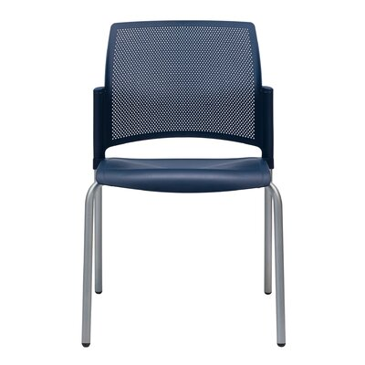 Dextra Mia Guest Chair (Set of 9) Seat Color: Navy Blue