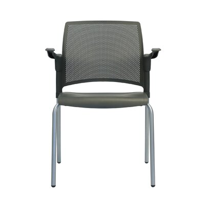 Dextra Mia Guest Chair (Set of 8) Seat Color: Charcoal