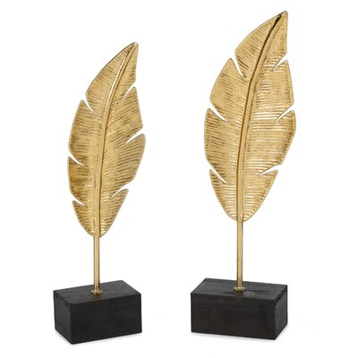 Golden Feathers Sculpture