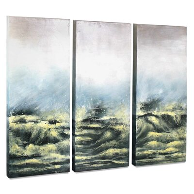 'Sea View V' 3 Piece Painting on Canvas Set