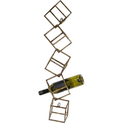 Jarrell 5 Bottle Wall Mounted Wine Rack