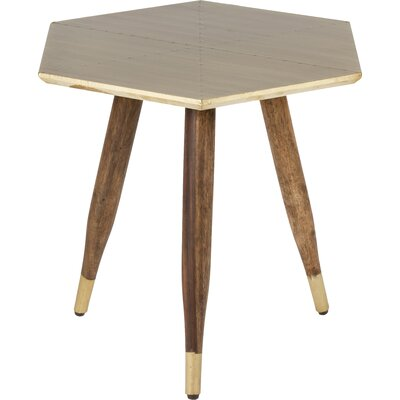 Kota End Table Finish: Antiqued Brass