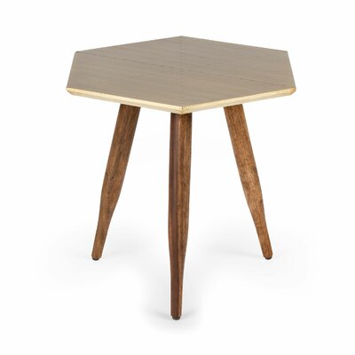 Alfort End Table Color: Antiqued Brass