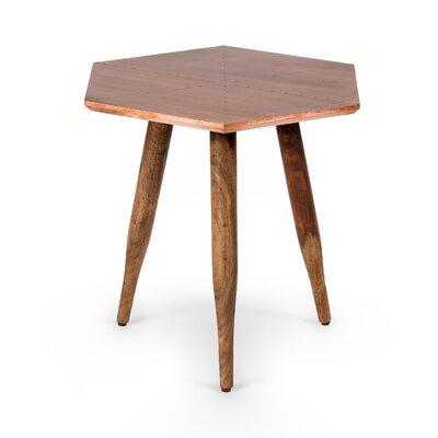 Alfort End Table Color: Antiqued Copper