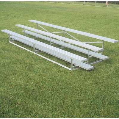 Outdoor All Aluminum 3 Tier Weatherbeater Bleacher Size: 252