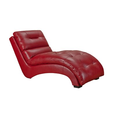 Daphne Chaise Lounge Upholstery: Red