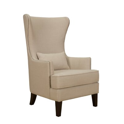 Cavender Wingback Chair Upholstery: Natural