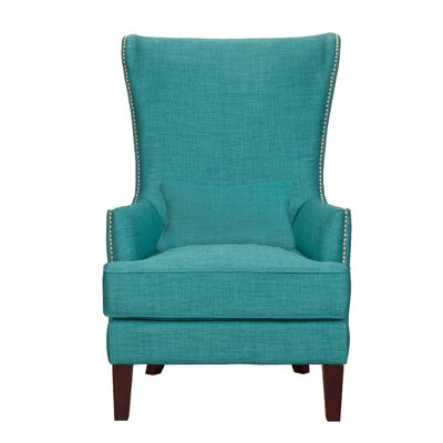Sudbury Wingback Chair Upholstery: Teal