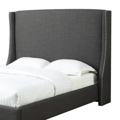 Bramble Upholstered Wingback Headboard Size: Queen