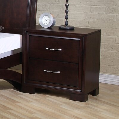 Zoe Nightstand in Rich Merlot